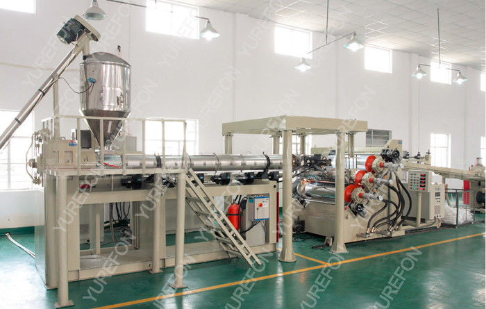 Stable Output Plastic Sheet Extrusion Line For Thermoforming Transparent PP PS PET