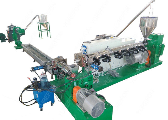 Recycled PP PE rigid flakes pelletizing recycling machine, pelletizing system, recycling granulator machine